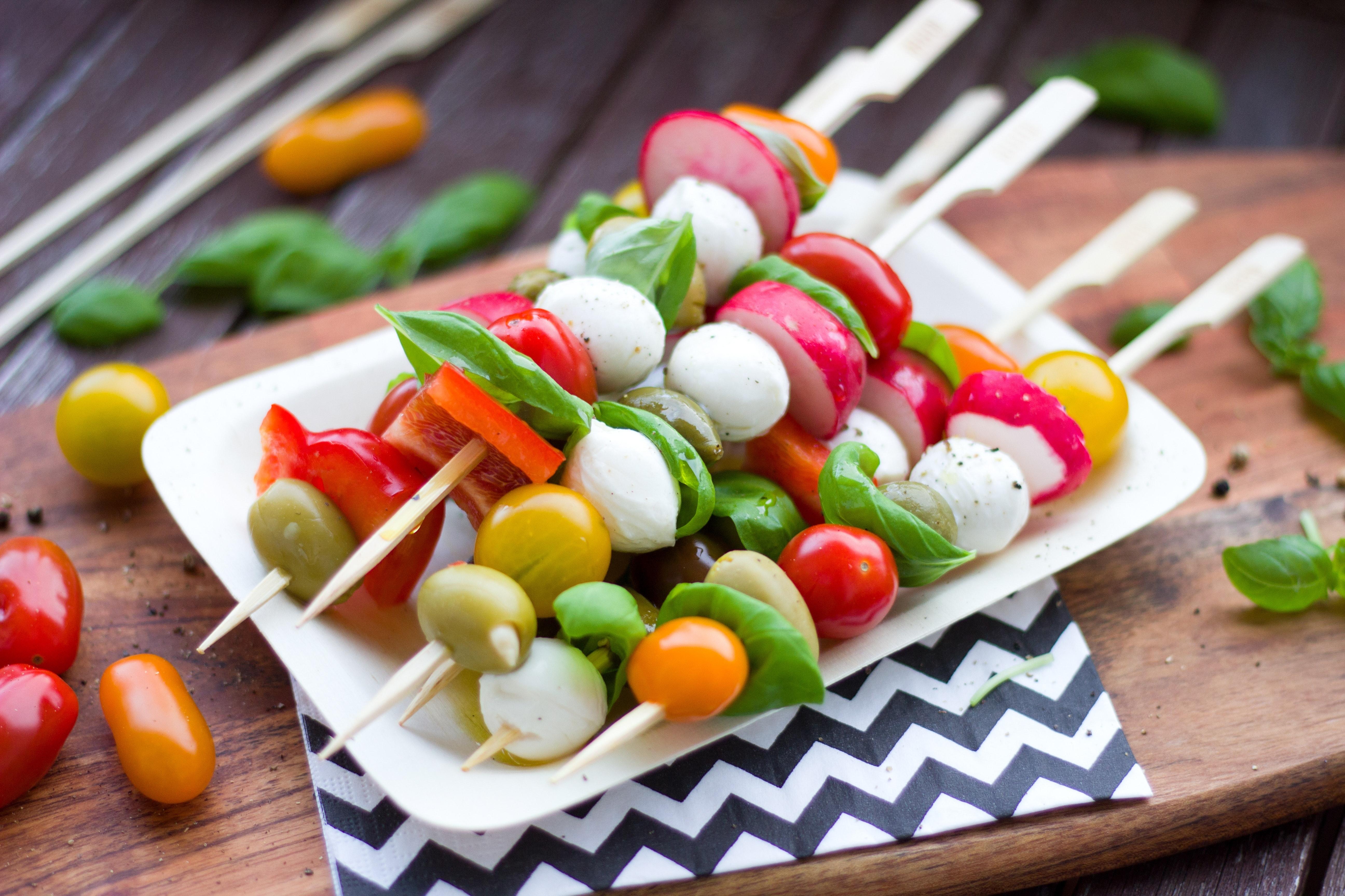 Vegetarisch gerecht op de barbecue