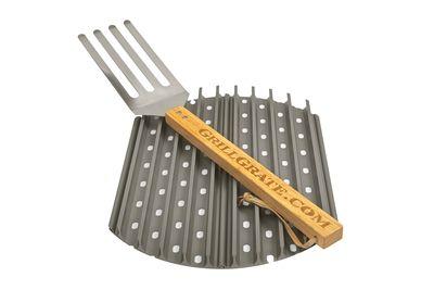 GrillGrate Kit voor ronde barbecue (2x Radius 37cm + gratis GrillGrate tool) -